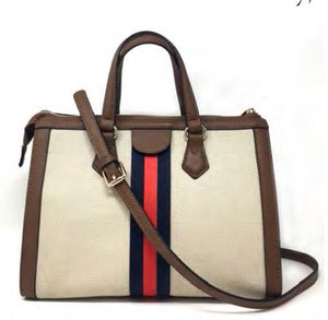 INZI Purse Canvas/Tan Satchel