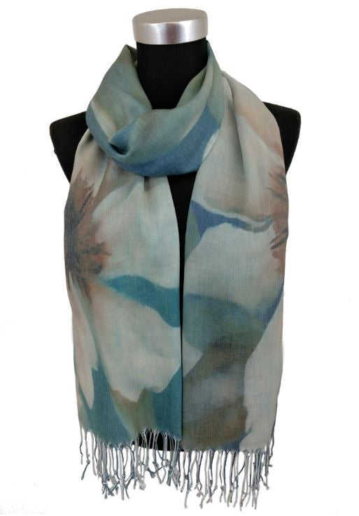 Scarf Digital Print Waterlily