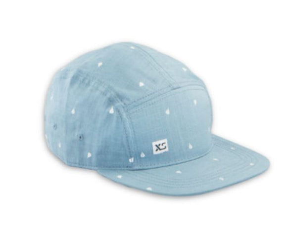 5-Panel, Linen Mini Drop (Blue Denim) Hat by XS