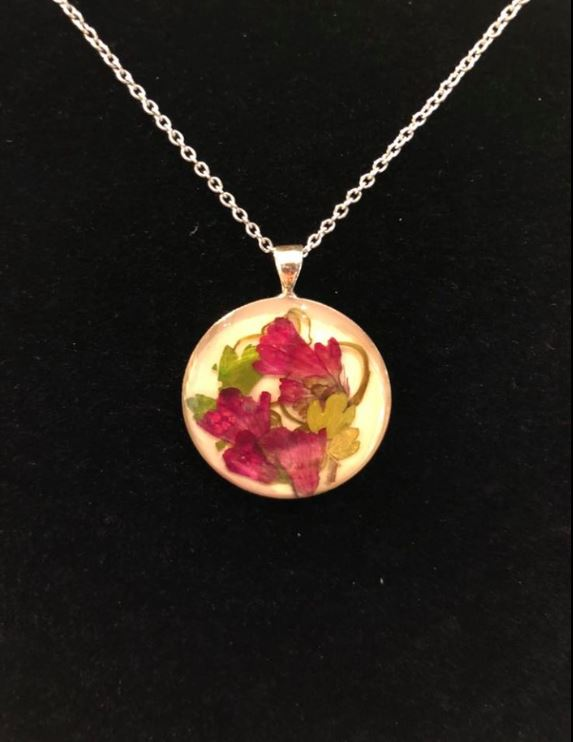 Pressed Flower Necklace #2