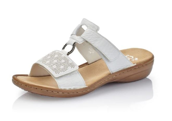 Slip-On (White) Sandal by Rieker