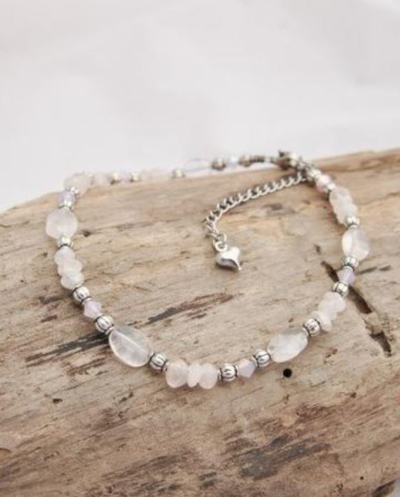 Anklet - BEL - Rose Quartz