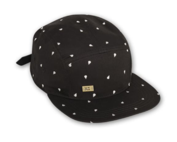 5-Panel, Mini Drop (Black) Hat by XS