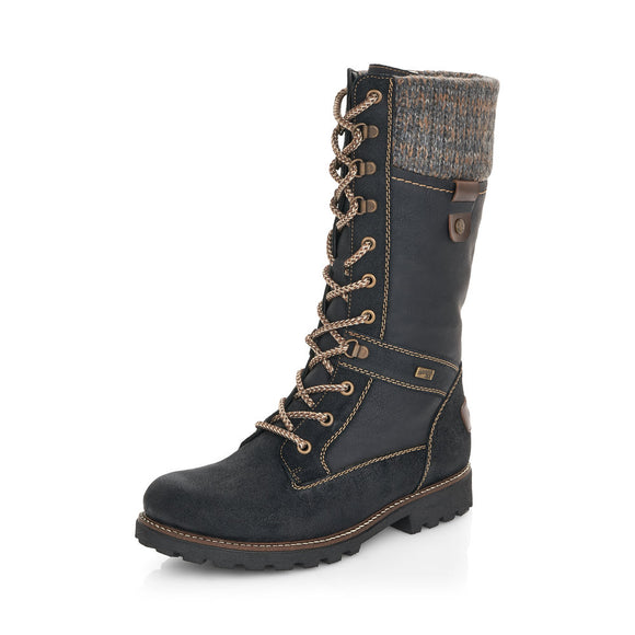 Tall Winter Boot (Black) by Remonte