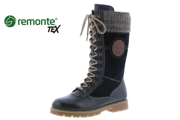Tall Winter Boot (Black/brown)- Remonte