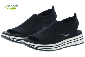 Water Sandal (Black) by Remonte