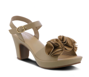 Bonnet Sandal (Tan) by Patrizia