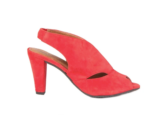 Downey Suede Heel (Red) by Atelier