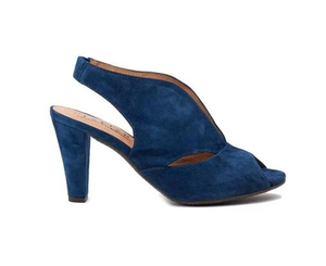 Downey Suede Heel (Cobalt Blue) by Atelier