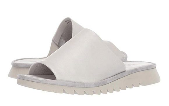 Shore Thing Slip-On Sandal (White Silver) by Flexx