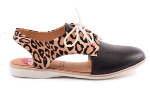 Slingback Shoe (Ocelot/Black) by Rollie