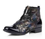 Ankle Bootie (Navy/Silver Camo) by Remonte