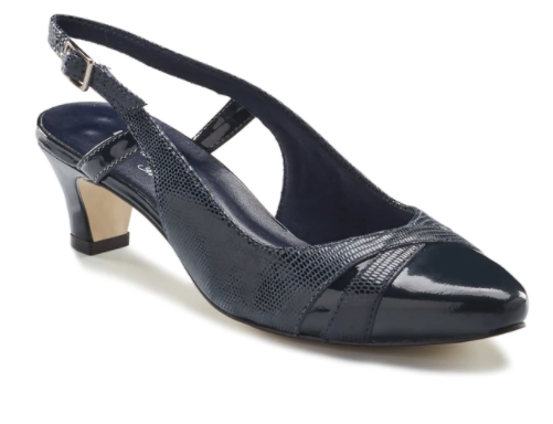 Intrigue Heel (Navy) by Walking Cradles