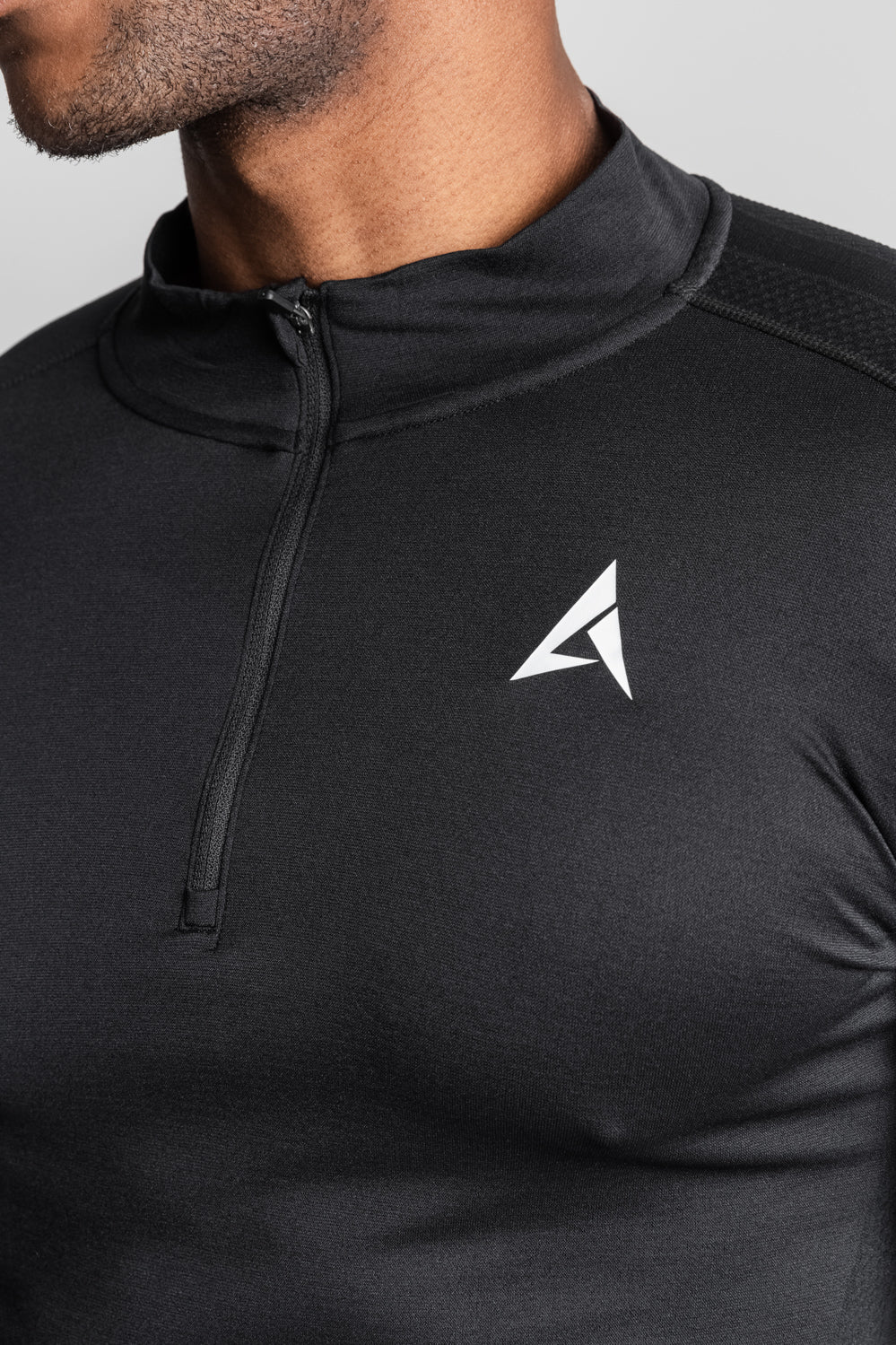 Static 1/4 Zip - Black