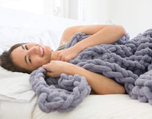 Load image into Gallery viewer, SnuggleTime - Wool Knitted Blanket