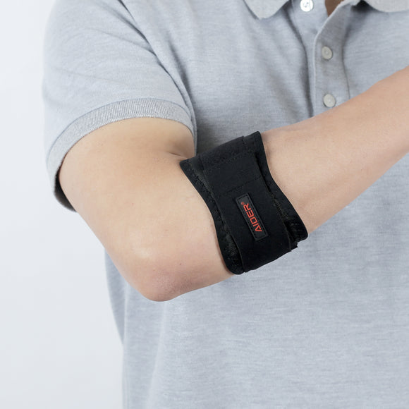 AIDER Elbow Support for Tennis & Golf Anatomical Structure of Forearm Lateral and Medial Epicondylitis