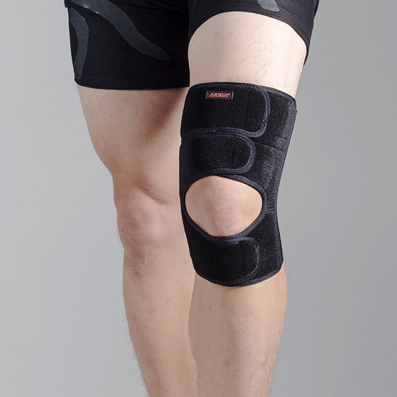 Aider Knee Brace Type 2 - Adjustable Compression Brace, Breathable Neoprene, Unique Anti-Slip and Comfort Design, Knee Brace for Sports, Arthritis, Joint Pain
