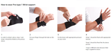 Aider Wrist Brace Pro Type 1- Relieve Carpal Tunnel Arthritis Support with Adjustable Velcro: Wrist Pain Relief, Weightlifting, Neoprene Breathable Material, Wrist Injuries Rehab: for Playing Games