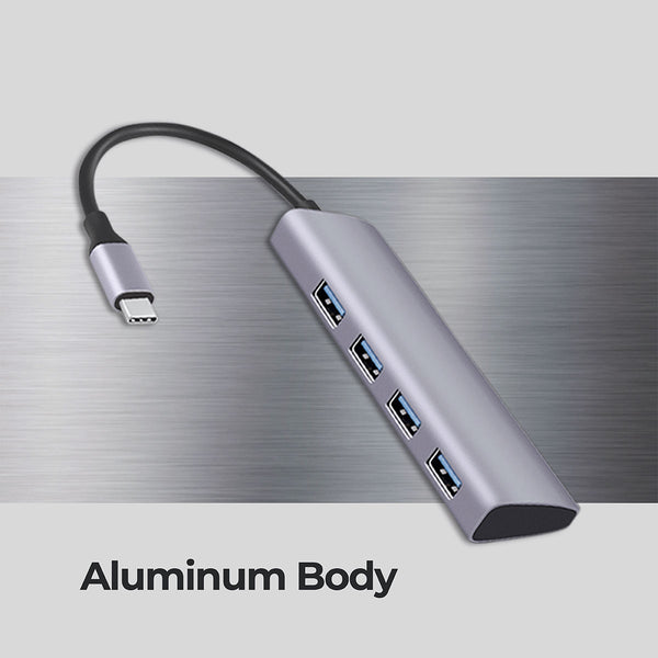 Zeb TA500U - 4 in 1 USB Type C Multiport Adapter