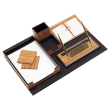 Load image into Gallery viewer, Güner Ofis Luxury Walnut Desk Set