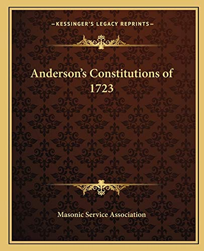 Anderson's Constitutions of 1723