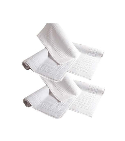 6 Pcs White Bath Mat