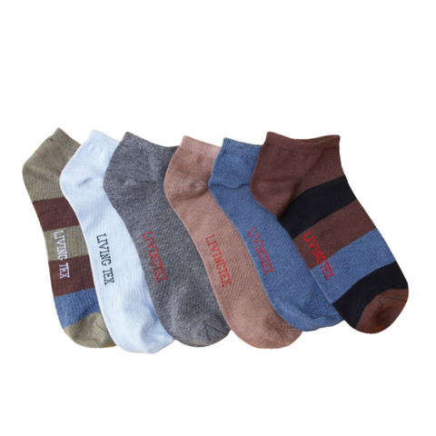 6 Pair Assorted  Socks