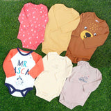 6 Pcs Pack Full Sleeves Assorted Baby Romper Bodysuit Unisex Pure Cotton High Quality