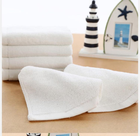 Organic Cotton White Baby Towel