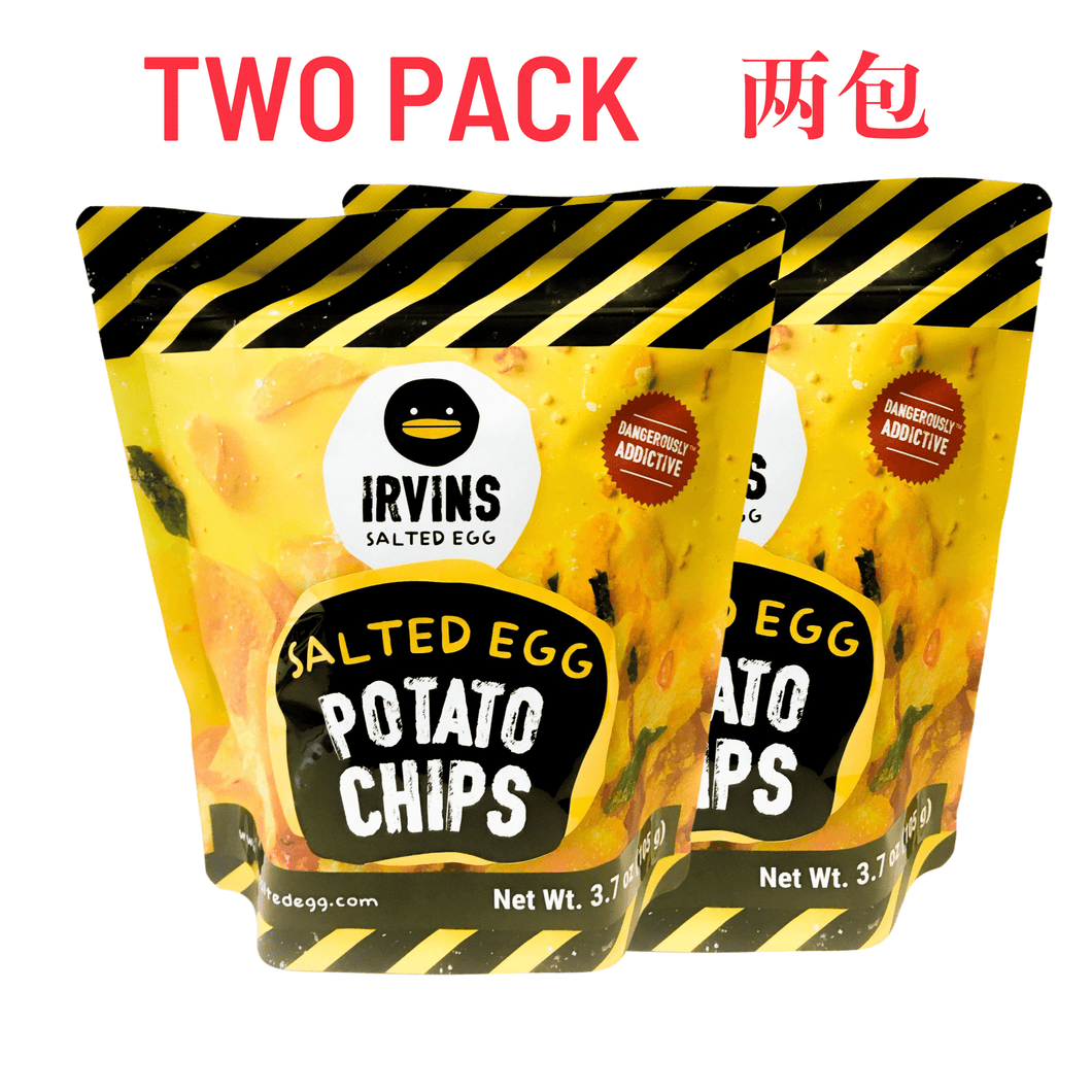 Irvins Salted Egg Potato Chips Small 咸蛋薯片 (2 BAGS/包x 3.7 OZ)