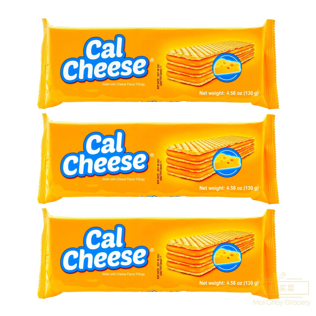 CAL CHEESE Wafer with Cheese Filling 芝士味威化饼(4.58 OZ x 3 BAGS/包)
