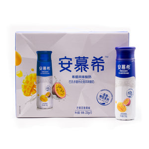"AMBROSIAL Passion Fruit & Mango Greek Flavored Yogurt Drink  安慕希酸奶""芒果百香果味"" (8.11 OZ x 10)"