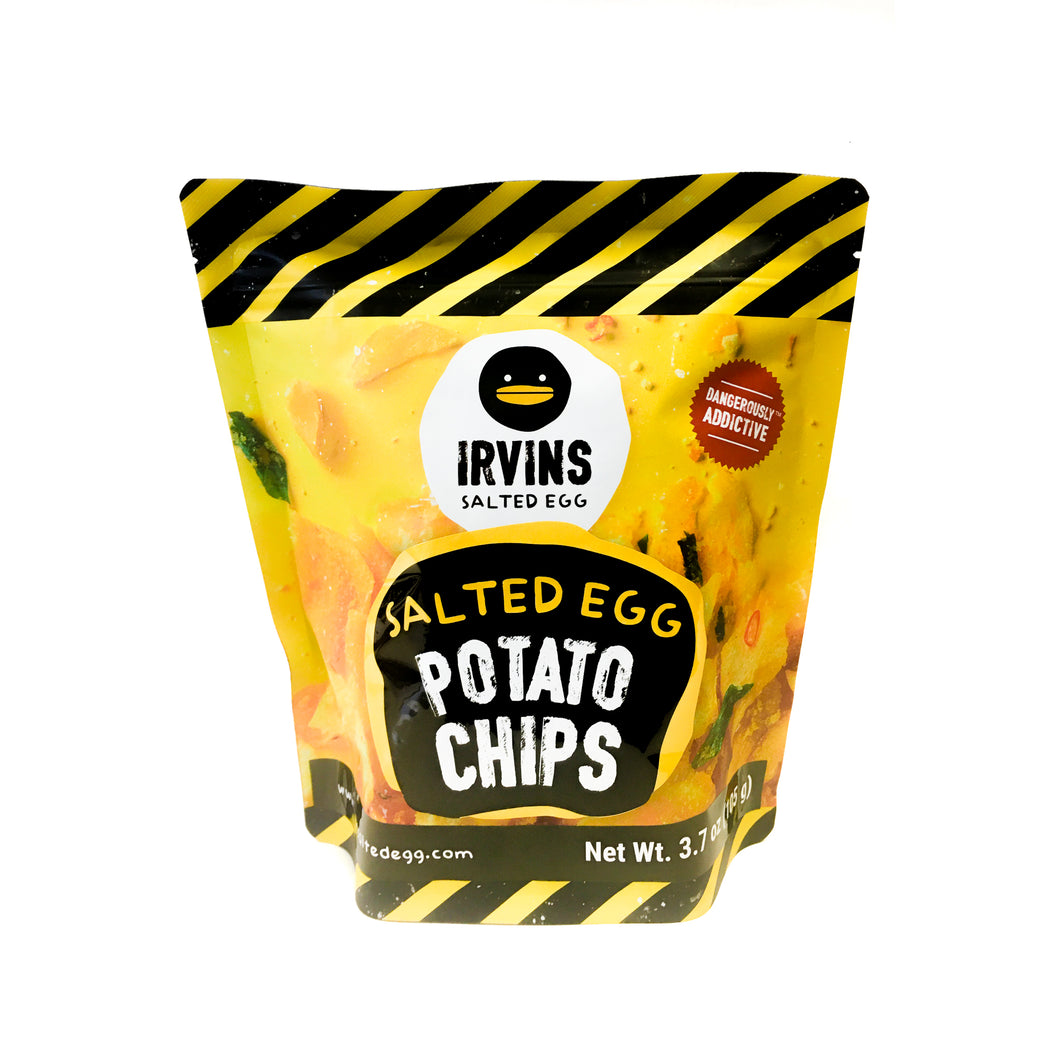 Irvins Salted Egg Potato Chips Small 咸蛋薯片 (3.7 OZ)
