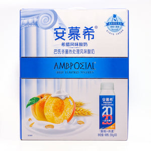 AMBROSIAL Peach Greek Flavored Yogurt Drink 桃味酸奶🍑 (7OZ x 10)
