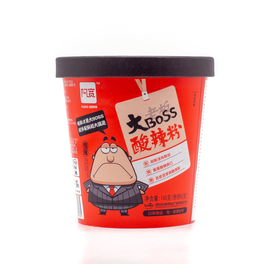 BAIJIA Big Boss Vermicelli Hot & Sour (白家酸辣粉1 CS 5.11 OZ x 12PC)