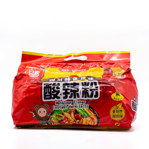 Hot & Sour Flavor Instant Vermicelli 酸辣粉 (5 PACK)