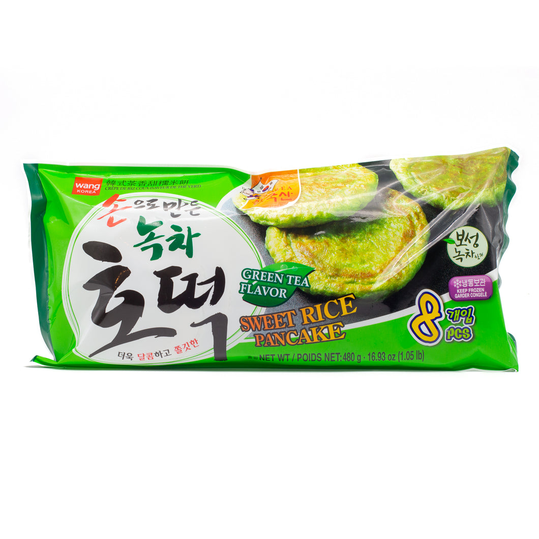 Sweet Rice Pancake Green Tea Flavor 韩式茶香甜糯米饼 (1.05 LBS)