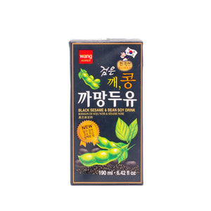 Black Sesame & Bean Soy Drink黑芝麻豆奶 (4 PACK, 4x6.42 FL OZ)