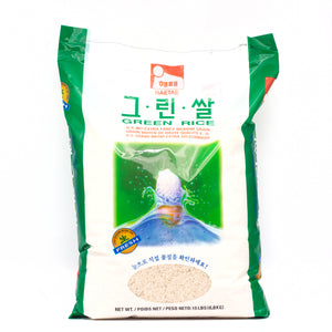 HAETAE Medium Grain Green Rice (15 LBS)