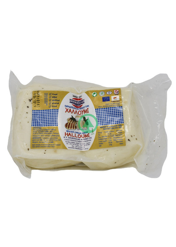 Souroullas Traditional Halloumi x2 ~450G -2 Pieces  (€14.69/Kg)