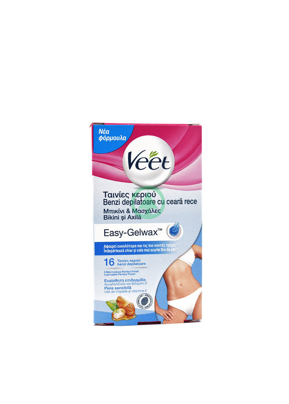 Veet Cold Wax Bikini Almond Sensitive Skin 16s