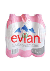 Evian Mineral Water 1L Pet X6