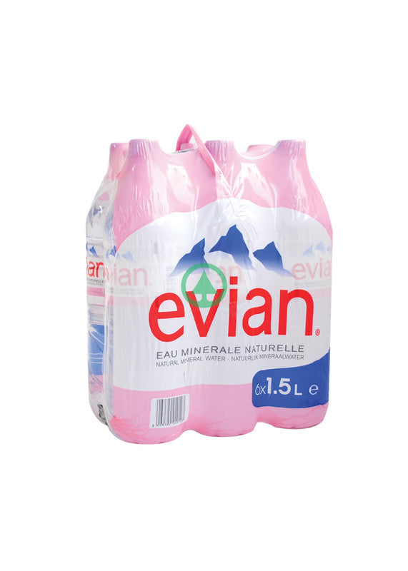 Evian Mineral Water 1.5L Pet X6