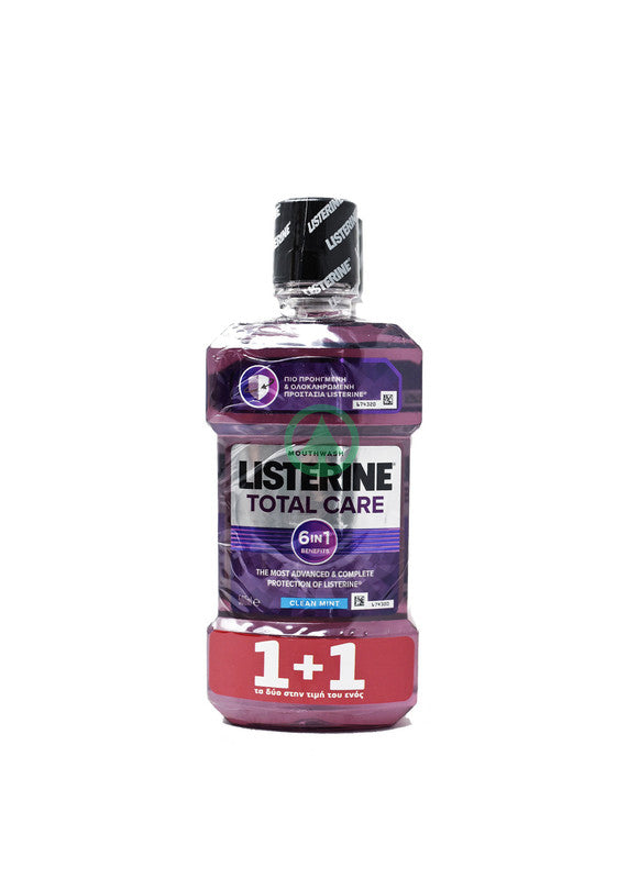 Listerine Mouthwash Total Care 500ml 1+1 Free
