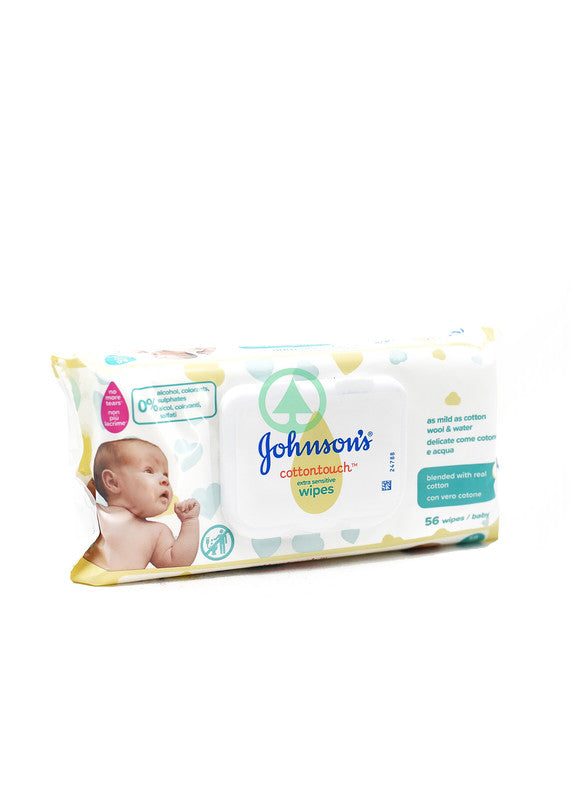 Johnson's Baby Wipes Cotton Touch X56