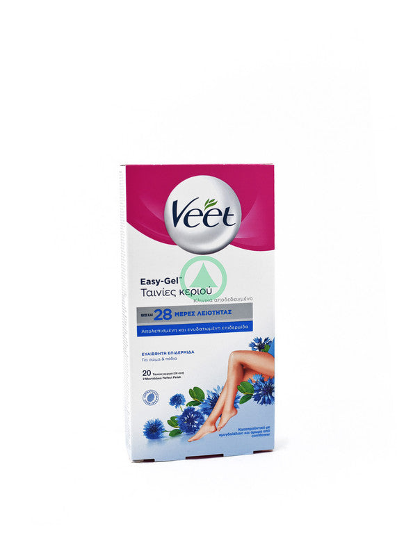 Veet Strip For Legs Sensitive Skin 20Ps