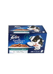 Felix Wet Cat Ocean Feast Jel 12X100G