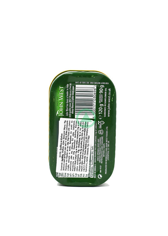 John West Sardines In Sunflower Oil 120g