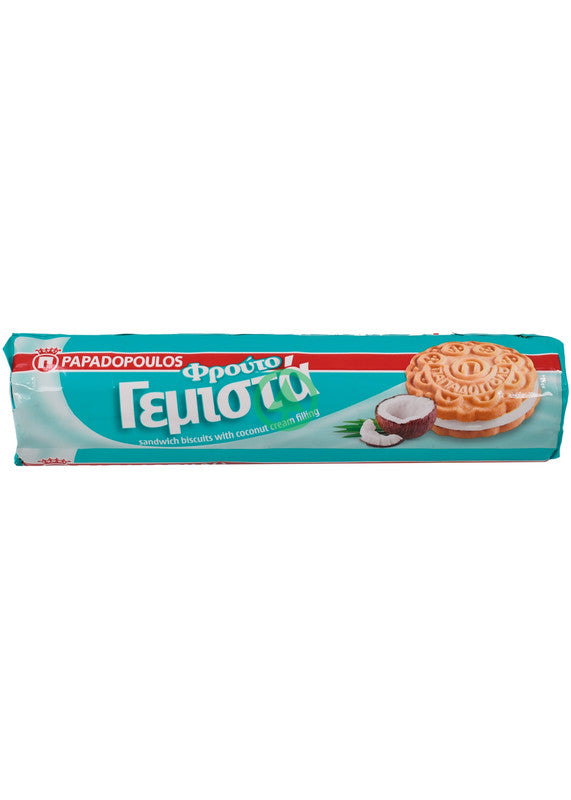 Papadopoulou Coconut Sandwich Biscuits 200g
