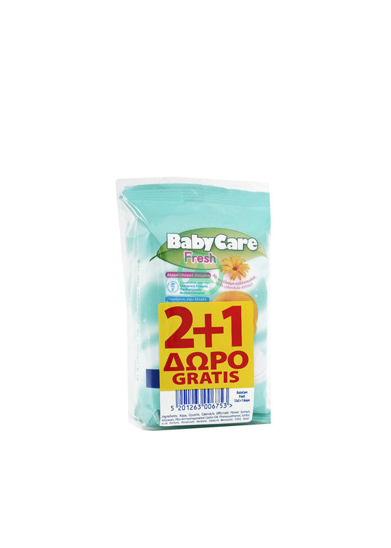 Baby Care Fresh Mini Pack X12 2+1 Free